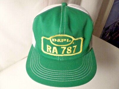 Vintage D&PL RA 787 - K-Products Mesh Trucker Snapback Hat - Green