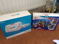 Wii u console 8GB with games