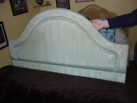 Double Bed Light Green Headboard .