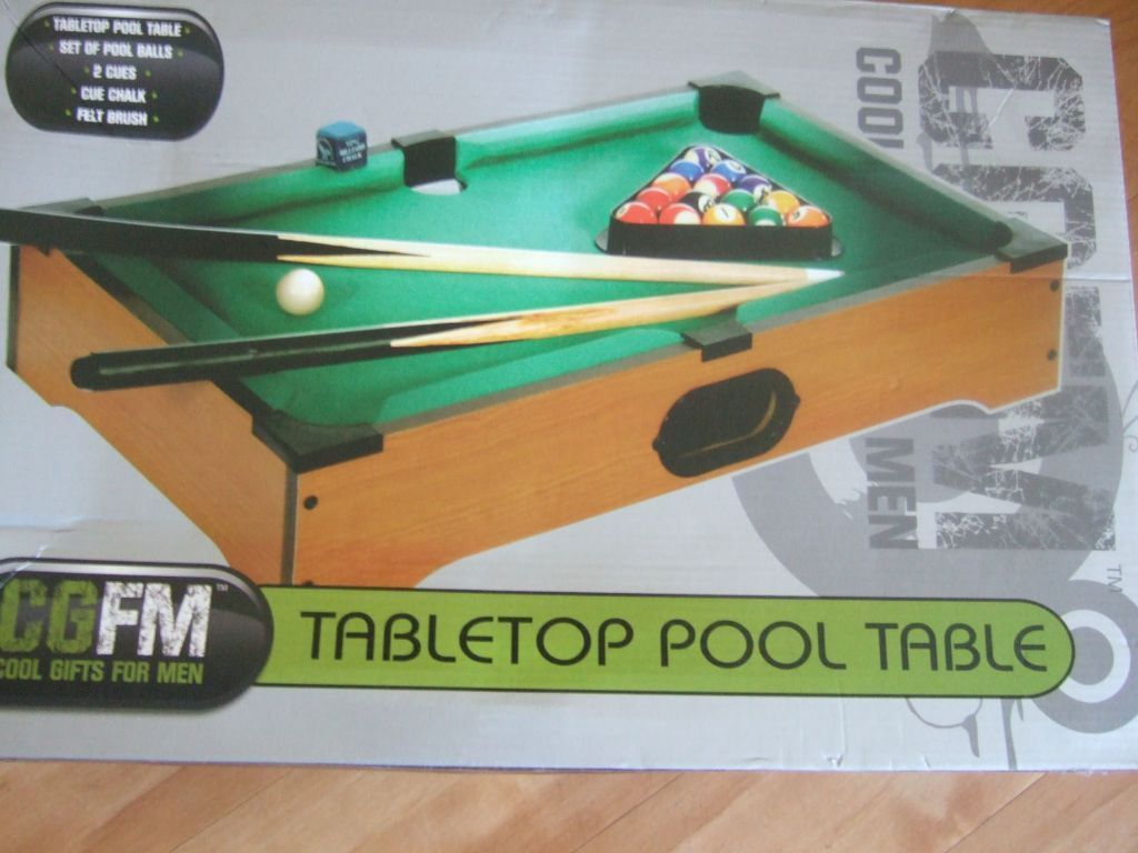 Fantastic Table Top Pool Table Great Family Activity RRP - Pool table top only