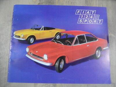 Prospekt brochure FIAT 124 Sport 1969 SR218