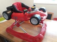 Red racing car walker!