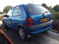 1997 Vauxhall Corsa B 1.4 3dr breeze blue BREAKING FOR SPARES