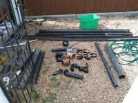 New and used guttering drainage