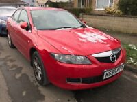 Mazda 6 TS2 1999cc Petrol Automatic 5 door hatchback 55 Plate 09/09/2005 Red