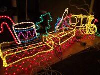 Outdoor Xmas light up led train