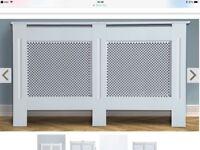 New Large white radiator cover (unused)