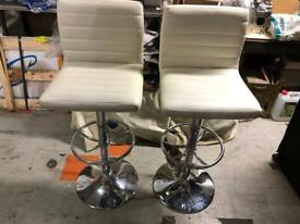 🚚🚚Two Beautiful Branded Adjustable white breakfast Chair For Sale Free delivery Radius Apply