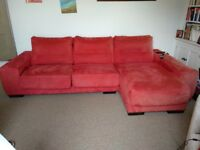 Sofa with electric chaise long for added comfort