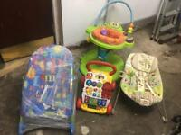 Selection of baby toddler play items