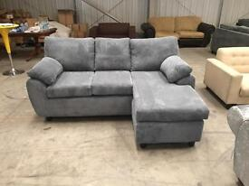 Brand new grey chaise corner sofa