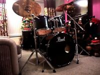 5-Piece Rock Drum Kit with Zildjian Cymbals + free delivery and tuition