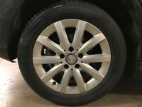 Mercedes B class 16 inch alloys with tyres. £650 ono collection only