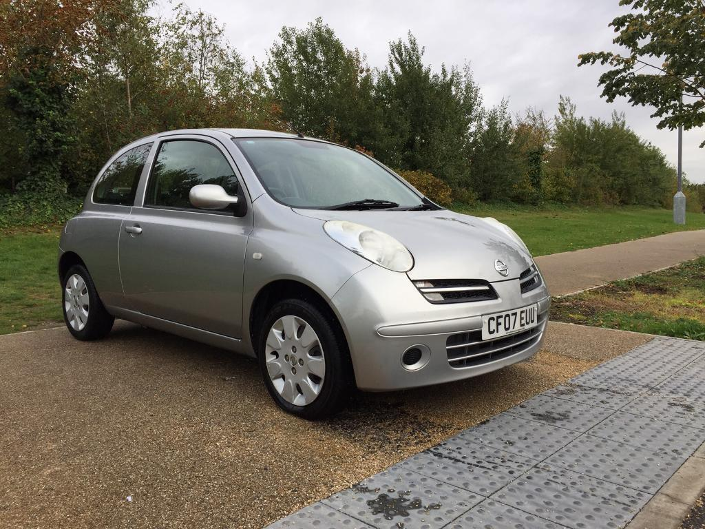 2007 Nissan Micra 1.2 Petrol CHEAP TAX Manual A/C grey clean 3dr New MOT WARRANTY PART EXCHANGE POSS