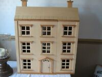 georgian dolls house complette with furniture, brand new.