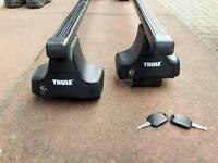 Mk5/6 Volkswagen Golf Roof Rack ,Thule Roof Rack 754 (Square bars x2 Foot pack x4 and Rapid kit x4)