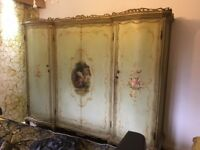 """""""ORIGINAL"""" NEVER PAINTED OVER ANTIQUE FRENCH WARDROBE/ARMOIRE, AND CHEST OF DRAWERS"""
