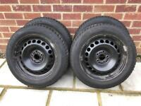 Audi A1 steel wheels with winter tyres