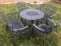 Vintage cast metal garden Table & chair set with possible delivery