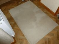 Cream rug, good condition