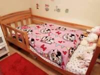 Children's Bed (Wooden) with Mattress