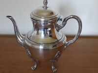 Teapot from the 1900s, French, silver plated
