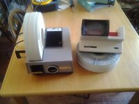 Haminex slide projector,with two circular slide holders. Photax Autoviewer