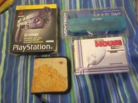NAMCO G-CON 45 LIGHT GUN + Mult-tap NEW & SEALED + Hyper Mouse + CD case PLAYSTATION PS1