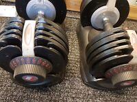 Adjustable Dumbells 32kg x2