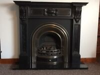 Ornate cast iron fireplace - gas or coal