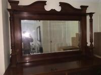 Victorian Sideboard with Back Mirror