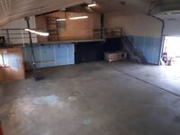 Fully insulated former dairy over 2000 sq/ft plus 800sq/ft of mezzanine