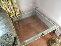FREE Large glass top coffee table