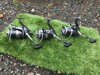 3 x daiwa Windcast x 5000 reels carp fishing