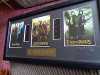 Lord of the Rings Return of the King pictures with original filmcell Limited Edition