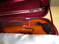 3/4 Westbury Violin outfit - as new.