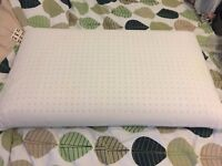 2 x Natural Latex Foam and Cotton Pillows by Neoplano - 12 cm - Hypoallergenic and Mite-resistant