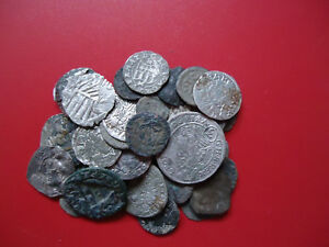 SEMI CLEANED TO UNCLEANED MEDIEVAL COINS Per Coin Buying/bidding  !!