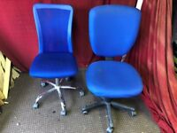 2 OFFICE SWIVEL CHAIRS, CAN DELIVER