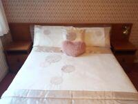 Divan double bed with headboard