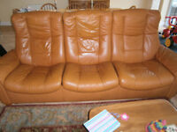 Used leather Stressless Recliner Sofa