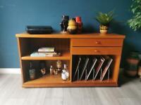 Danish Retro Media Sideboard TV Unit LP Record Storage
