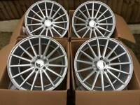 """Brand new 18"""" vossen style alloy wheels 5x112 pcd vw audi merc"""