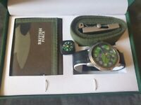 British Forces Gents Set - Including wallet, compass, belt and watch.