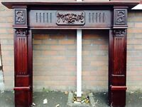 Mahogany Fireplace Surround £65