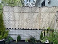 6 Panel Solid Hand Made Wicker Living Room / Patio Partitions