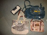 River island hanbags 3 off and 1 purse