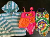 swimming bundle 3-4 swimming costume Mini Boden towelling hoody John Lewis