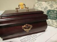 NEW! Bombay Company - Small Wooden Jewelry Box