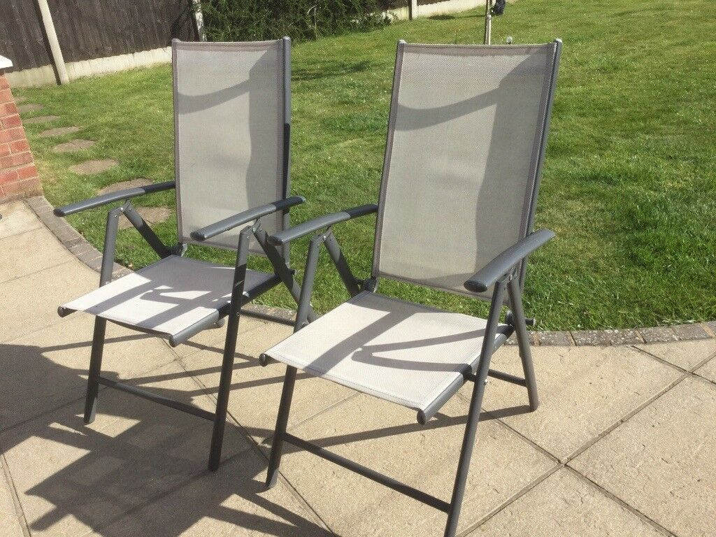 Excellent Pair Of Lightweight Aluminium Folding Recliner Chairs Ideal For Caravan Camping Or The Garden In Norwich Norfolk Gumtree Ocoug Best Dining Table And Chair Ideas Images Ocougorg